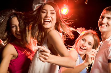 Girls partying at a club. A good place to meet women?